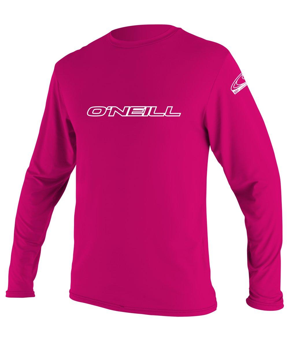 O'Neill Youth Basic Skins UPF 50+ Long Sleeve Sun Shirt, Watermelon, 6