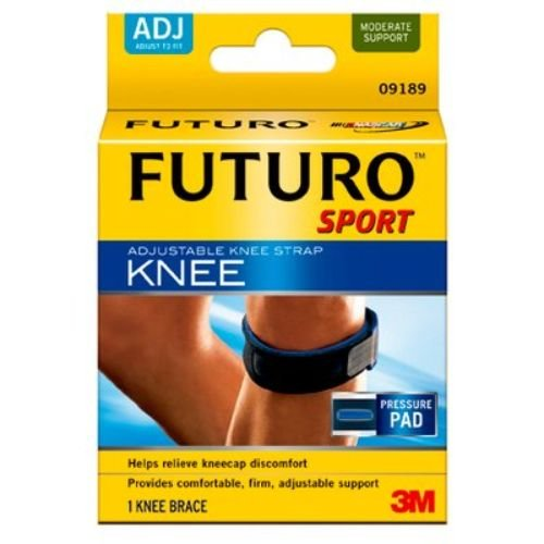 Image of 3M Health Care 09189EN Knee Strap, Adjustable, One Size, Black (Pack of 12) Knee Braces