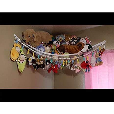 Huijukon Toy Chain Toy Chain Organizer with 20 Clips for Soft Stuffed Animals, Nursery Play, Teddies(79 inches) (White)