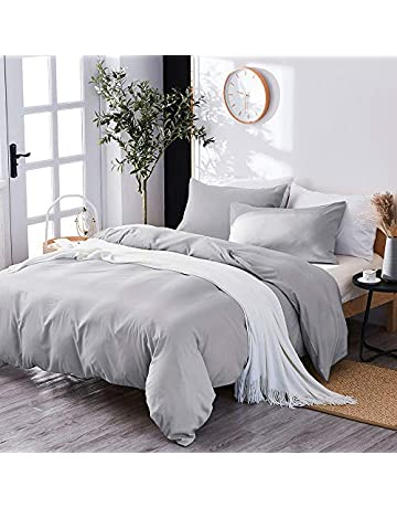 78c9a5faff75 Marriarics 3 Pieces Duvet Cover King,Stone Washed Yarn Dyed Microfiber Duvet  Cover Set,