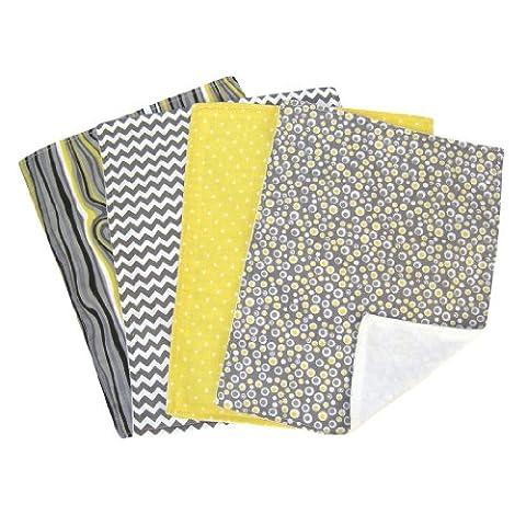Trend Lab Burp Cloth Set, Hello Sunshine, 4-Count