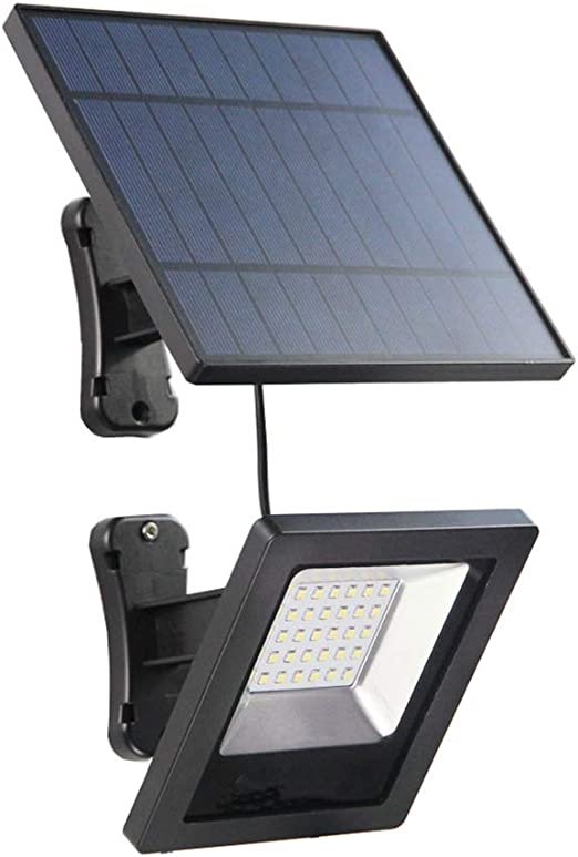Rabther Luz Solar LED, con Panel de 3 m de Cable, Reflector para jardín, cáscara del