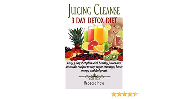 Juicing Cleanse 3 Day Detox Diet - Easy 3 Day Diet Plan with Healthy Juices  and Smoothie Recipes to Stop Sugar Cravings, Boost Energy and Feel Great