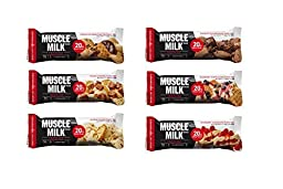 Muscle Milk Red , Chocolate Peanut Butter ,Salted Caramel , Almond Cookie , Double Fudge Brownie, Blueberry Cone, Raspberry Cheesecake , 2.18 oz , 1 of each,( Pack of 6 )
