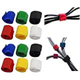 Home Cube® Pack of 12 Multipurpose Colorful Cable Wire Tie Curtain Marker Straps Belts Holders - Random Color.