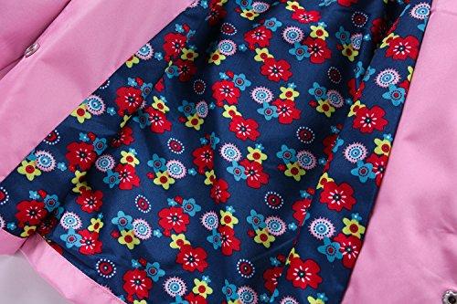 LZH Toddler Girls Raincoat Waterproof Outwear Coat Jacket with Hoodies by LZH (Image #5)