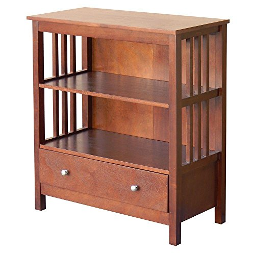 DonnieAnn 328570 Hollydale 2-Shelf Bookcase in Chestnut Review