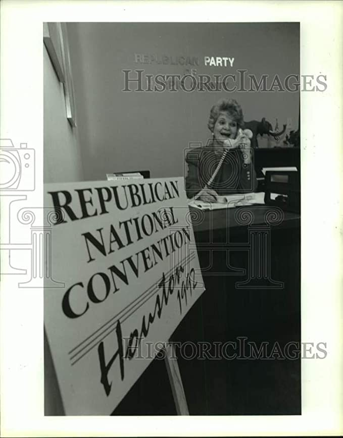 Amazon.com: 1991 Press Photo Sherry Johnson on phone - Houston GOP headquarters - hca64876: Photographs