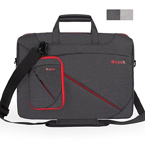 Ropch 17 17,3 Zoll Laptoptasche mit Griff & Schultergurt & Zubehörfach, Wasserfest Laptop Tasche Notebooktasche Schutzhülle Hülle Sleeve Case für 17,3