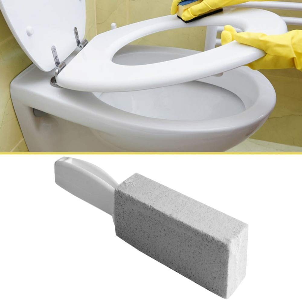 Culturemart 1Pc Toilets Cleaner Stone Natural Pumice Stone Toilets Brush Quick Cleaning Stone Cleaner with Long Handle for Toilets Sinks