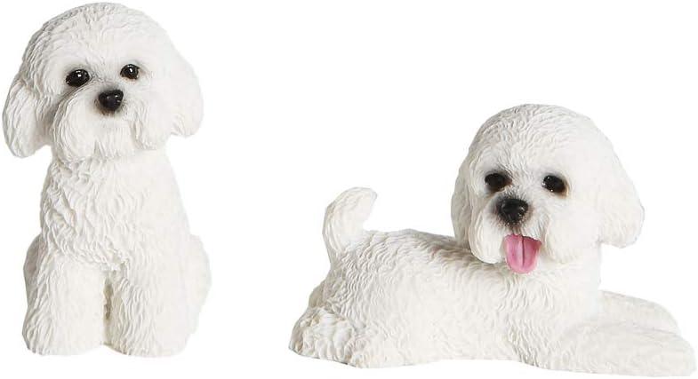 Petorama 100% Handmade Hand Painted Collectible Grade Premium Lifelike Realistic Gift Mini Poodle Statue Set 1:6 (1)