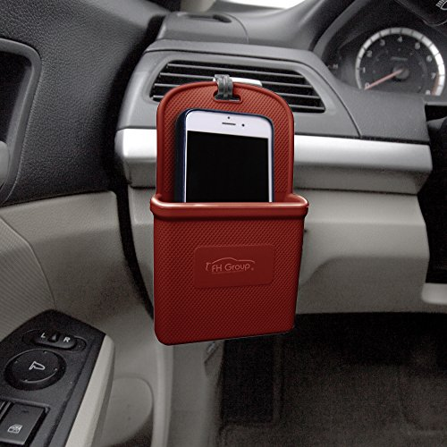FH Group FH3022BURGUNDY Burgundy Silicone Car Vent Mounted Phone Holder (Smartphone works with IPhone Plus Galaxy Note Burgundy Color) by FH Group