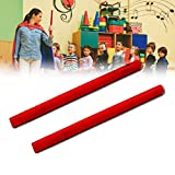 Luerme 2 Pairs Percussion Instruments Wooden Rhythm Sticks Classical Solid Hardwood Percussion Instrument Rhythm Sticks