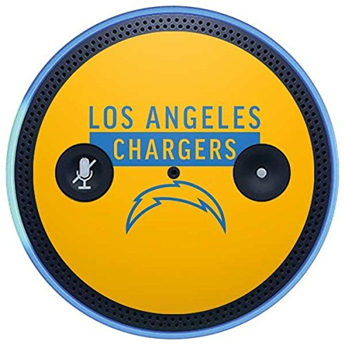 Skinit NFL Los Angeles Chargers Amazon Echo Plus Skin - Los Angeles Chargers Yellow Performance Series Design - Ultra Thin, Lightweight Vinyl Decal Protection