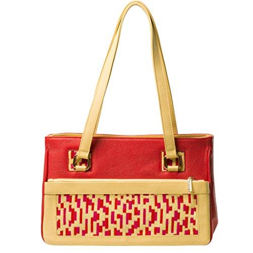Collezione Borsa In Design Mosaici Maglieria Boduch Pelle Vera Rosso La Giallo Tati Di wFqrY41Iq