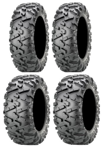 Full set of Maxxis BigHorn 2.0 Radial 25x8-12 and 25x10-12 ATV Tires ()