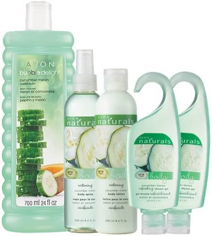 NATURALS 5-Piece Cucumber Melon Bubbles to Lotion Bath Collection