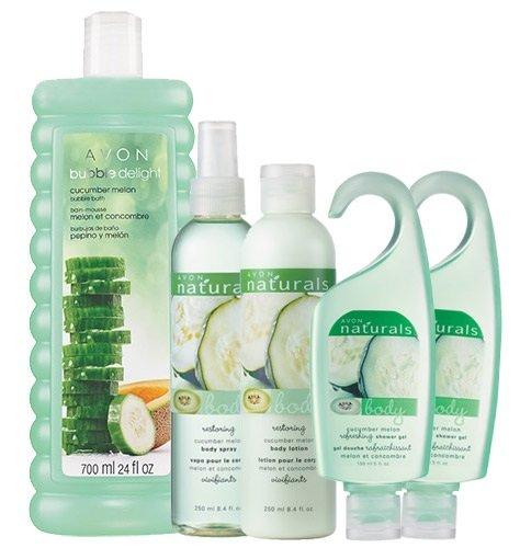 NATURALS 5-Piece Cucumber Melon Bubbles to Lotion Bath Collection ()