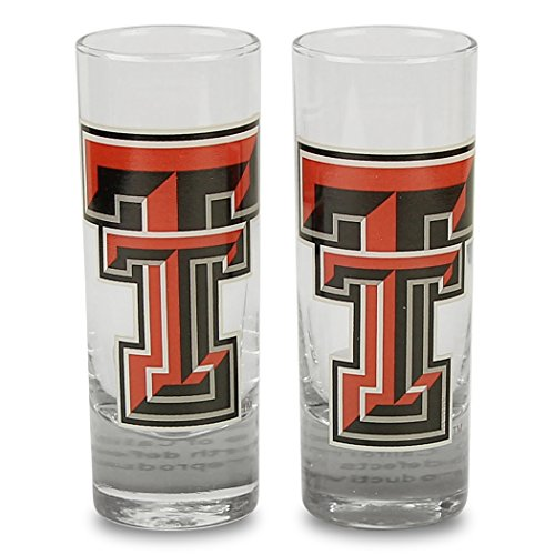 - NCAA Color Team Logo 2oz Cordial Shot Glass 2-Pack Texas Tech Red Raiders)