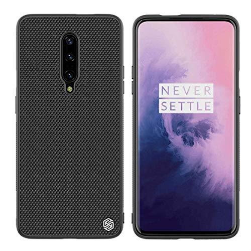Oneplus 7 Pro Case, Nillkin Nylon Fiber Weave Non Slip Matte Surface Slim Hard Protective Case Back Cover for Oneplus 7 Pro - Black