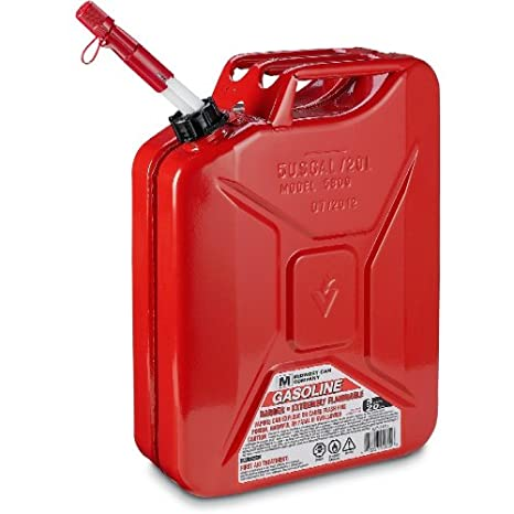 Midwest Can 5800 Metal Jerry Gas Can - 5 Gallon Capacity