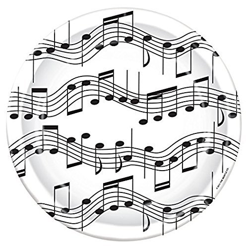 Musical Note Plates (Value Pack: 24 Count)
