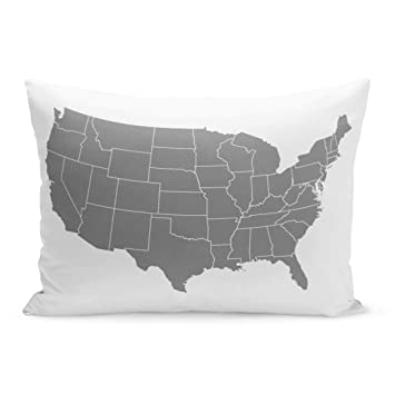 Amazon.com: Semtomn Throw Pillow Covers Gray America Map ... on uganda map gray, europe map gray, philippines map gray, florida map gray, world map gray, canada map gray, singapore map gray, colombia map gray, puerto rico map gray, oceania map gray, virginia map gray, south africa map gray, kazakhstan map gray, chile map gray, middle east map gray, massachusetts map gray, atlantic ocean map gray, latin america map gray, mexico map gray, asia map gray,