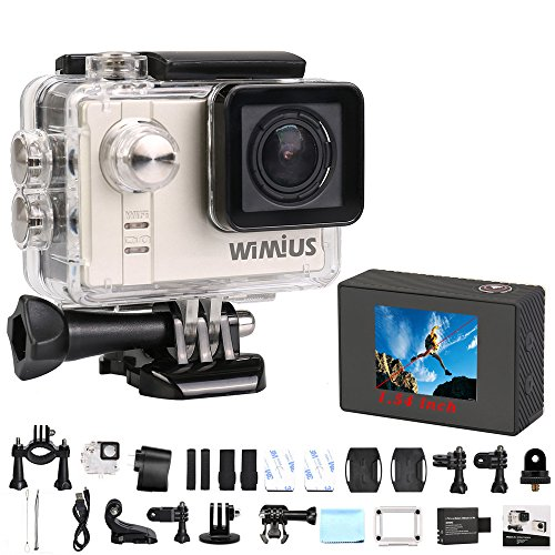 Sports Camera,WiMiUS® 16MP HD 1080P WIFI Action Camera Waterproof Sports Diving Camera with 170 Degree Ultra-wide Angle Lens (S2-Black) Action Cameras WiMiUS®