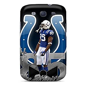 Samsung Galaxy S3 NUx1021JAsA Allow Personal Design Colorful Indianapolis Colts Pattern Excellent Cell-phone Hard Cover -JonBradica