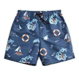 Men's Ultra Quick Dry Navigation Route Graphic Board Shorts Medium 33-34