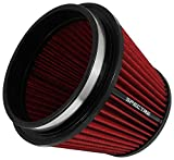 Spectre Universal Clamp-On Air Filter: High Performance, Washable Filter: Round Tapered; 6 in (152 mm) Flange ID; 6.219 in (158 mm) Height; 7.719 in (196 mm) Base; 5.219 in (133 mm) Top, SPE-HPR9886