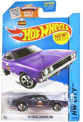 Hot Wheels 2015 HW City '69 Dodge Charger 500 19/250, púrpura