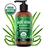 USDA Organic Aloe Vera Gel - 100% Pure and Natural Cold Pressed