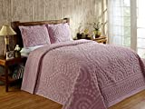 Better Trends / Pan Overseas 81 X 110 Inch Rio Bedspread, Twin, Pink