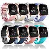 Tobfit Compatible Bands Replacement for Fitbit Versa, Silicone Wristbands Versa Accessories for Women and Men