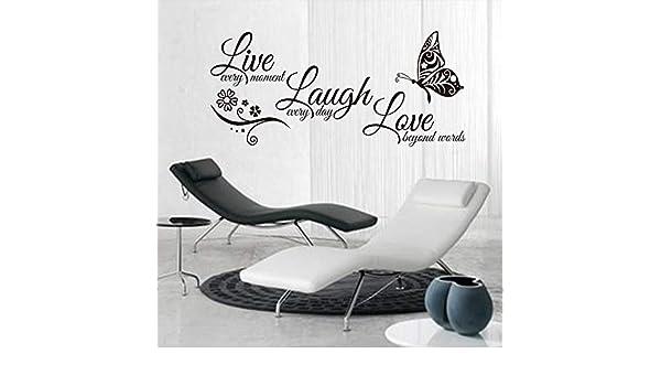 Apliques Vida risa amor mariposa arte de la pared etiqueta del ...