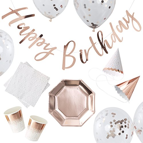 (Rose Gold Foiled Birthday Party in a Box - 16)