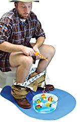You loved our Potty Putter, now try Potty Fishing. This hilarious toilet game is an ideal fishing gift for Birthdays, Fathers Day, or as Christmas gifts. Try and catch 4 fish in the bowl of water with the provided fishing rod as you sit astri...