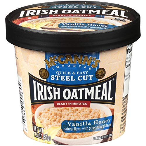 McCann's Instant Oatmeal Cup, Vanilla Honey, 1.9 Ounce (Pack of 12)