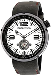 Momo Design Evo Automatic Black Dial Black Leather Mens Watch MD1011BS-22