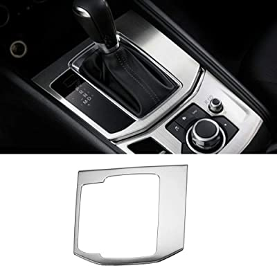 Luocky Car Center Control Gear Shift Knob Console Media Panel Cover Trim for Mazda CX-5 CX5 2020 2020 2020 Stainless Steel Interior Accessories (Silver Gear Panel): Automotive