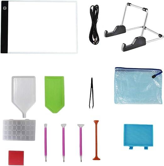 jeerbly – Láminas para Pintar con luz A4 – Tablero de Dibujo con luz LED – Caja de luz