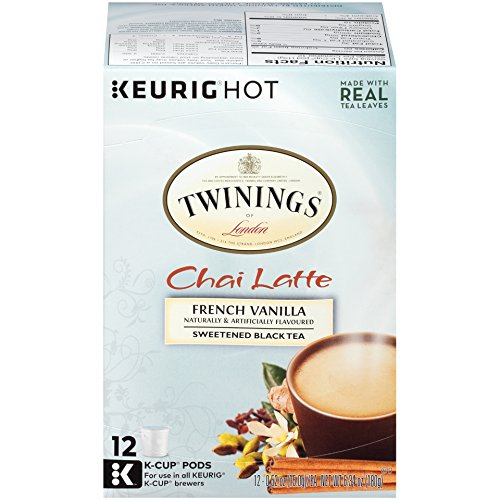 (Twinings of London French Vanilla Chai Latte Tea K-Cups for Keurig, 12 Count)