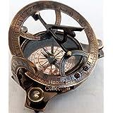 """4"""" West London Brass Sundial Compass ~ Vintage Maritime Antique Brass Compass"""