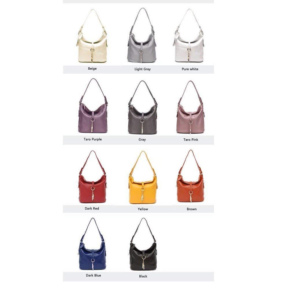 KISlink Women 'S Top-Handle Taschen Leder Kleine Damen Umhängetaschen Weibliche Kleine Handtasche Damen Cross Body Messenger Weiß Beige Bag Light Gray