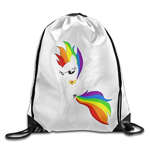 Bekey Super Rainbow Dash Drawstring Backpack Sport Bag For Men & Women For Home Travel Storage Use Gym Traveling Shopping Sport Yoga ()