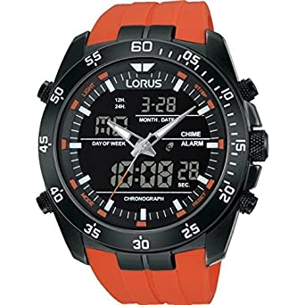 lorus mens large chronograph orange rubber strap rw625ax9 lorus mens large chronograph orange rubber strap rw625ax9