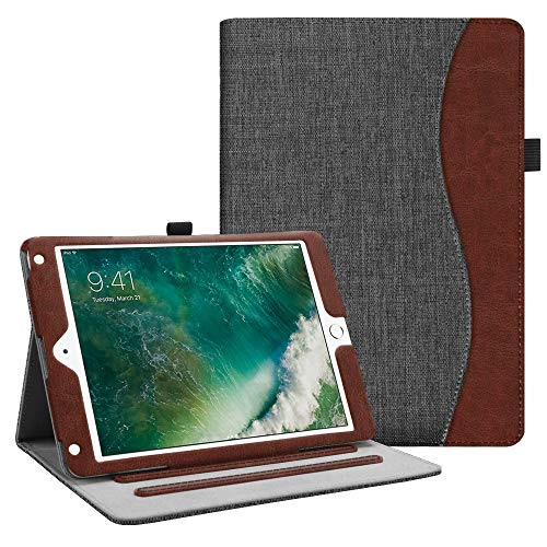 - Fintie iPad 9.7 2018 2017 / iPad Air 2 / iPad Air Case - [Corner Protection] Multi-Angle Viewing Folio Cover w/Pocket, Auto Wake/Sleep for Apple iPad 6th / 5th Gen, iPad Air 1/2, Denim Charcoal