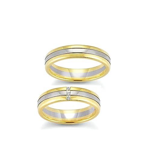 Confíes/anillos de boda/oro/anillos Oro blanco/amarillo/bicolour