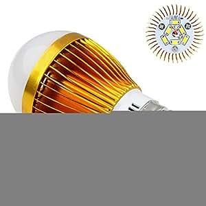 Badou 85~ 265V E276SMD LED Globe bombilla lámpara de luz de oro caso para al aire libre jardín decoración